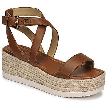 Schuhe Damen Sandalen / Sandaletten MICHAEL Michael Kors LOWRY WEDGE Kognac