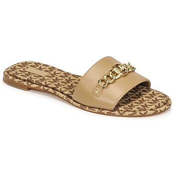 Schuhe Damen Pantoffel MICHAEL Michael Kors RINA SLIDE Kamel