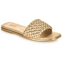 Schuhe Damen Pantoffel MICHAEL Michael Kors AMELIA FLAT SANDAL Golden