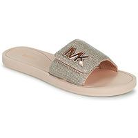Schuhe Damen Pantoletten MICHAEL Michael Kors MK SLIDE Golden