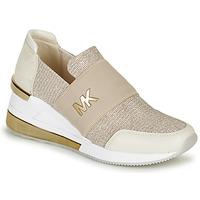 Schuhe Damen Sneaker Low MICHAEL Michael Kors FELIX TRAINER EXTREME Beige