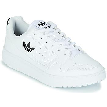 Schuhe Kinder Sneaker Low adidas Originals NY 92 J Weiß