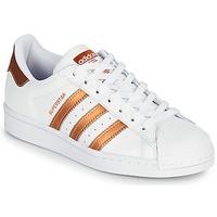 Schuhe Damen Sneaker Low adidas Originals SUPERSTAR W Weiß / Bronze