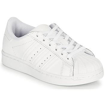 Schuhe Kinder Sneaker Low adidas Originals SUPERSTAR C Weiß