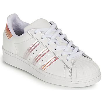 Schuhe Mädchen Sneaker Low adidas Originals SUPERSTAR J Weiß