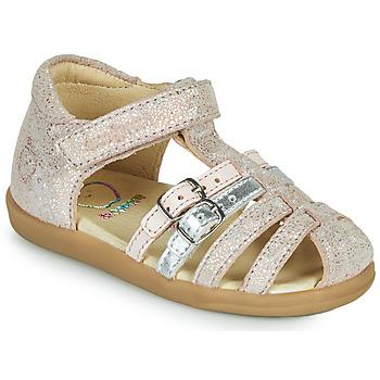 Schuhe Mädchen Sandalen / Sandaletten Shoo Pom PIKA SPART Beige / Silbrig