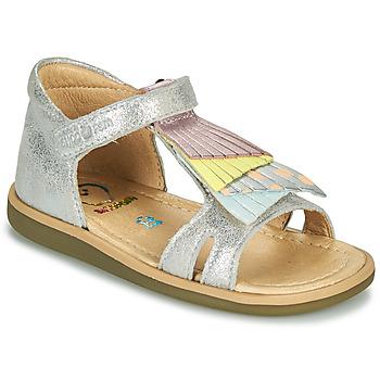 Schuhe Mädchen Sandalen / Sandaletten Shoo Pom TITY FALLS Silbrig