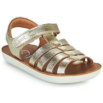 Schuhe Mädchen Sandalen / Sandaletten Shoo Pom GOA SPART Silbrig