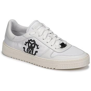 Schuhe Herren Sneaker Low Roberto Cavalli GEL Weiß