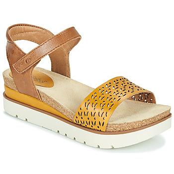 Schuhe Damen Sandalen / Sandaletten Josef Seibel CLEA 09 Braun, / Gelb
