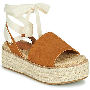 Schuhe Damen Sandalen / Sandaletten Emmshu SEARA Kognac