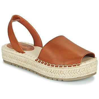 Schuhe Damen Sandalen / Sandaletten Emmshu LUZIA Kognac