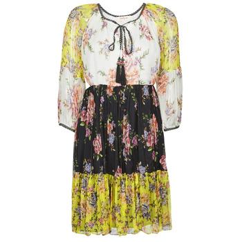 Kleidung Damen Kurze Kleider Derhy SARDAIGNE Weiß / Gelb