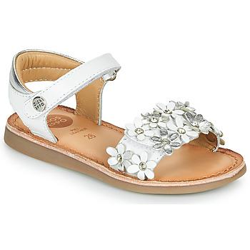 Schuhe Mädchen Sandalen / Sandaletten Gioseppo MAZARA Weiß / Silbrig
