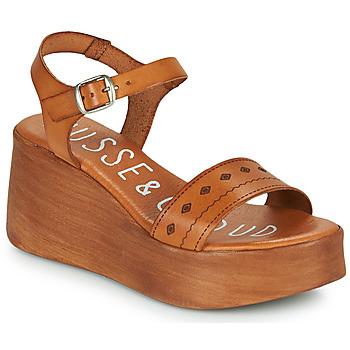 Schuhe Damen Sandalen / Sandaletten Musse & Cloud MILI Kognac