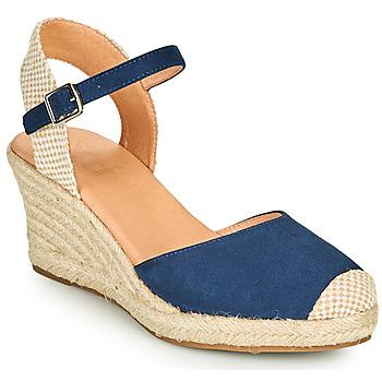 Schuhe Damen Leinen-Pantoletten mit gefloch Xti ALFED Marineblau