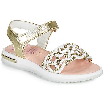 Schuhe Mädchen Sandalen / Sandaletten Pablosky DANIE Golden / Weiß