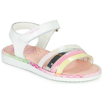 Schuhe Mädchen Sandalen / Sandaletten Pablosky MOUNNA Weiß