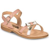 Schuhe Mädchen Sandalen / Sandaletten Citrouille et Compagnie JISCOTTE Silber