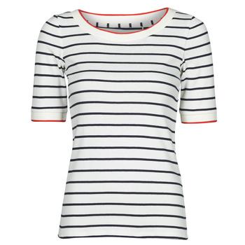 Vêtements Femme T-shirts manches courtes Esprit RAYURES COL ROUGE