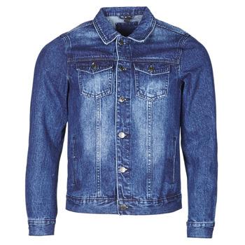 Kleidung Herren Jeansjacken Yurban OPSI Blau