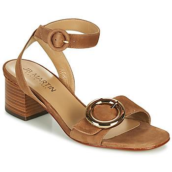 Chaussures Femme Sandales et Nu-pieds JB Martin OLAK MTO CAMEL DCN/ELASTANO