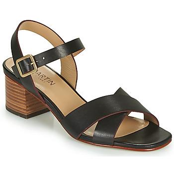 Chaussures Femme Sandales et Nu-pieds JB Martin OXIA VTE NOIR -MASSAI DCN/ELASTANO