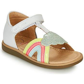 Schuhe Mädchen Sandalen / Sandaletten Shoo Pom TITY RAINBOW Weiß