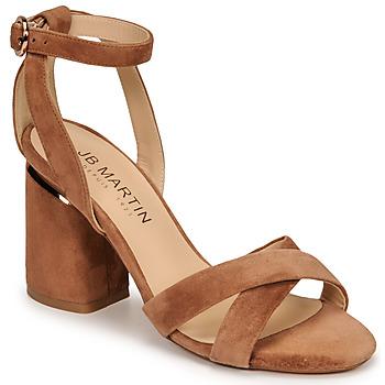 Chaussures Femme Sandales et Nu-pieds JB Martin KIMOE MTO CAMEL DCN/ELASTO