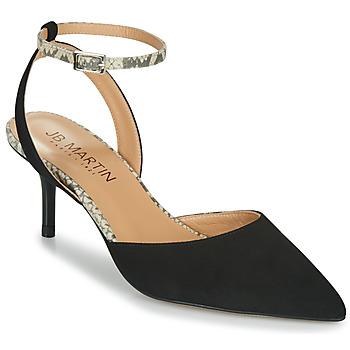 Chaussures Femme Escarpins JB Martin TWISTO MTO NOIR-BLANC DCN/ELASTO
