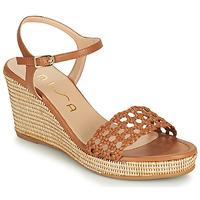 Schuhe Damen Sandalen / Sandaletten Unisa LOBI Kamel