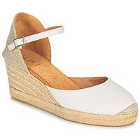 Schuhe Damen Sandalen / Sandaletten Unisa CACERES Weiß