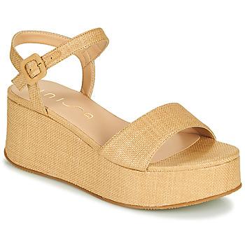 Schuhe Damen Sandalen / Sandaletten Unisa LAIKI Beige