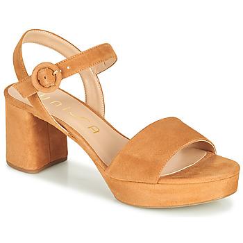 Schuhe Damen Sandalen / Sandaletten Unisa NENES Kamel