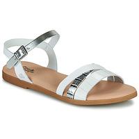 Schuhe Mädchen Sandalen / Sandaletten Citrouille et Compagnie OBINOU Weiß / Silber
