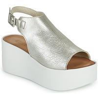 Schuhe Damen Sandalen / Sandaletten Sweet Lemon PYTON Silbrig