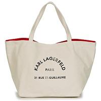 Taschen Damen Shopper / Einkaufstasche Karl Lagerfeld RUE ST GUILLAUE CANVAS TOTE Beige