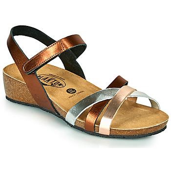 Schuhe Damen Sandalen / Sandaletten Plakton NOTE Kupferstich / Silbrig