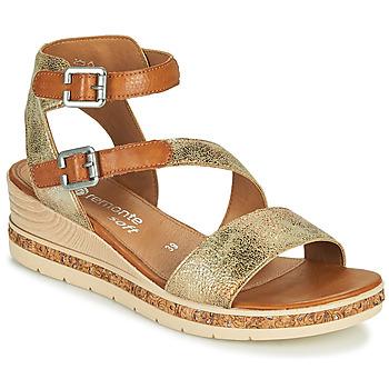 Schuhe Damen Sandalen / Sandaletten Remonte Dorndorf BALANCE Golden / Braun,