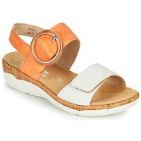 Schuhe Damen Sandalen / Sandaletten Remonte Dorndorf ORAN Orange / Weiß
