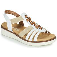 Schuhe Damen Sandalen / Sandaletten Remonte Dorndorf GRISSA Weiß / Grau