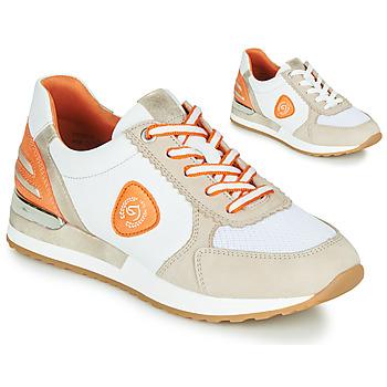 Schuhe Damen Sneaker Low Remonte Dorndorf POLLUX Weiß / Grau / Orange