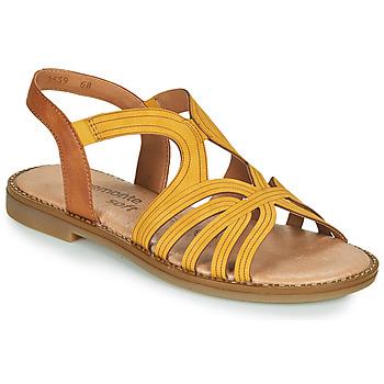 Schuhe Damen Sandalen / Sandaletten Remonte Dorndorf SANDA Gelb / Braun,