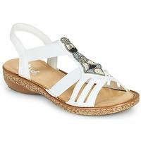 Schuhe Damen Sandalen / Sandaletten Rieker DOLNA Weiß