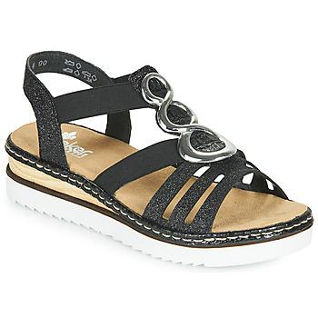 Schuhe Damen Sandalen / Sandaletten Rieker FANNI Blau