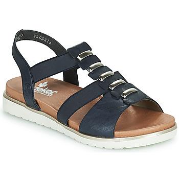 Schuhe Damen Sandalen / Sandaletten Rieker NINNA Blau