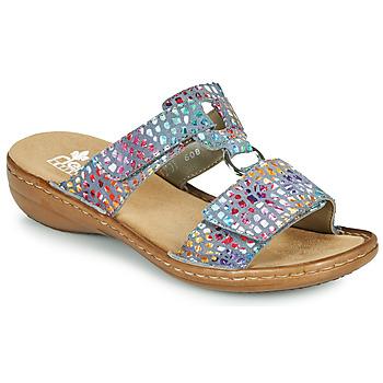 Schuhe Damen Pantoffel Rieker FOUNNA Bunt