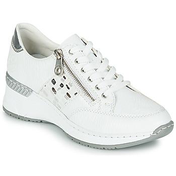 Schuhe Damen Sneaker Low Rieker GRAMI Weiß