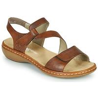 Schuhe Damen Sandalen / Sandaletten Rieker ZAZIE Braun,