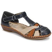 Schuhe Damen Sandalen / Sandaletten Rieker BLUE Blau / Braun,